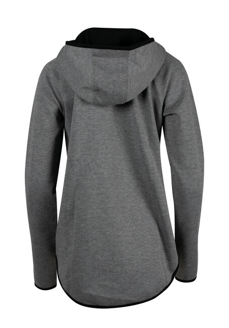 Ladies' Asymmetrical Zip Hoodie, CHARCOAL, hi-res