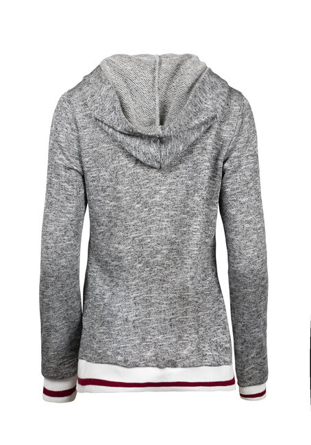 Women's Cabin Lace Up Hoodie, HEATHER GREY, hi-res