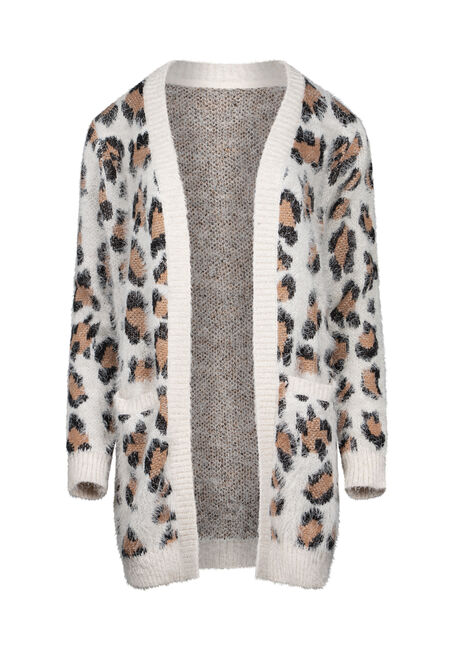 Women's Leopard Feather Yarn Cardigan