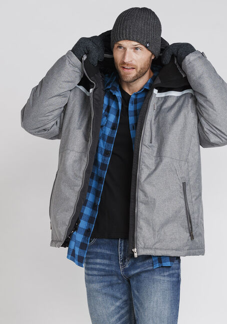 Men's Ski Jacket, LIGHT GREY, hi-res