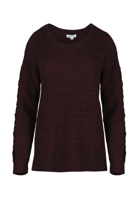 Women's Cut Out Sleeve Sweater