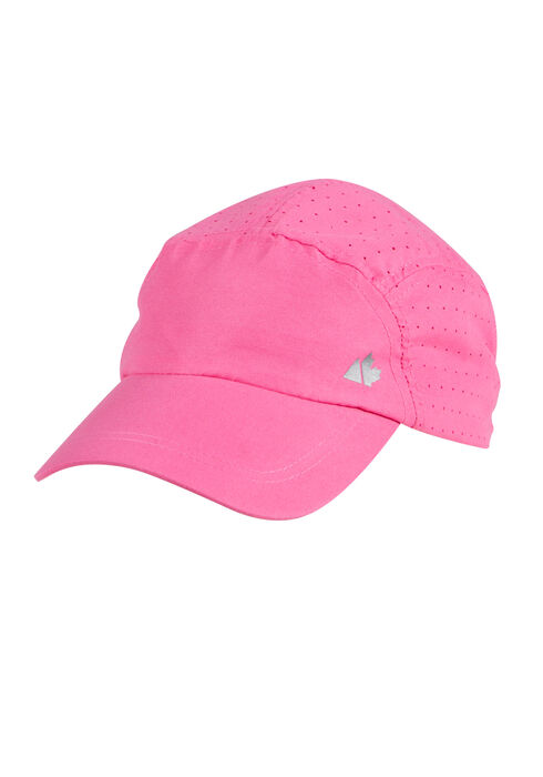 Ladies' Nylon Running Hat, BRIGHT PINK, hi-res