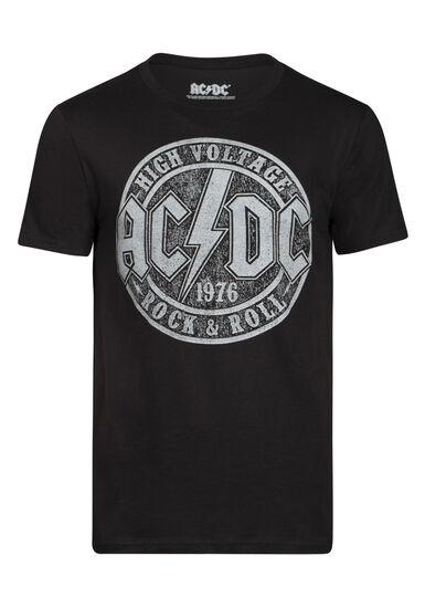 Men's AC/DC Tee, BLACK, hi-res