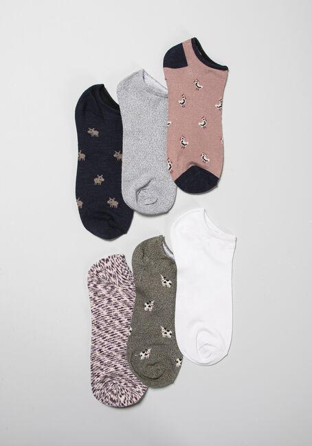 Women's 6 Pair Farm Socks