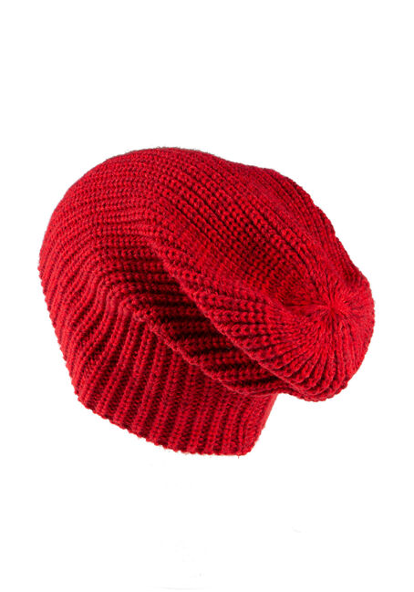 Women's Canada Slouchy Hat, RED, hi-res