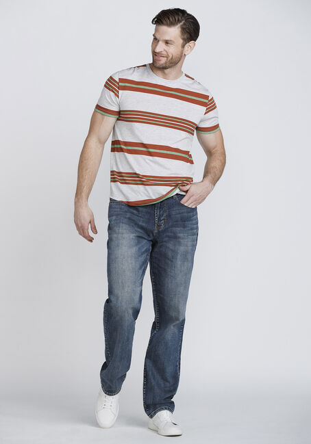 Men's Everday Striped Tee, ARABIAN SPICE, hi-res