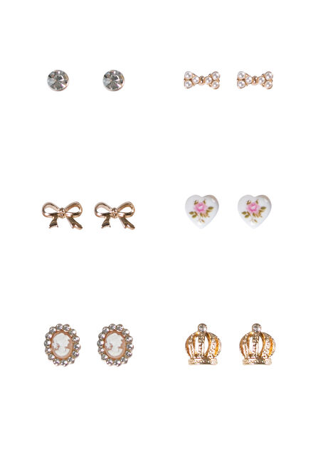 Women's 6 Pair Earring Set