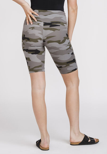 Women's Super Soft Camo Bike Short, OLIVE, hi-res