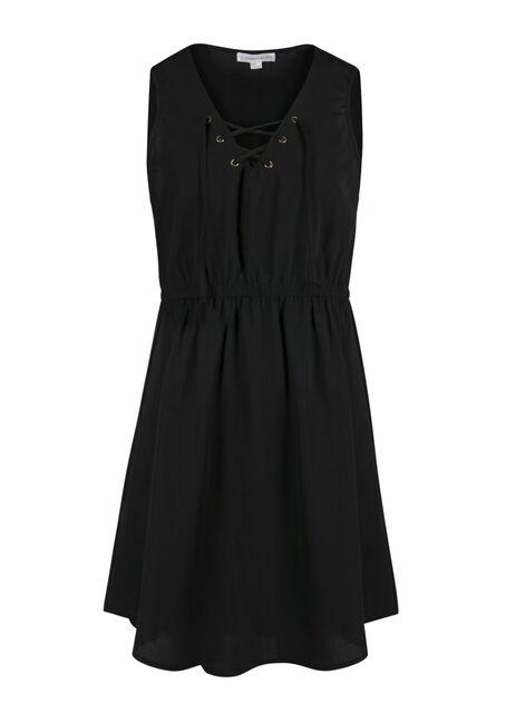 Ladies' Lace Up Shirt Dress