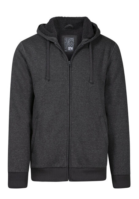 Men's Fur Lined Zip Front Hoodie