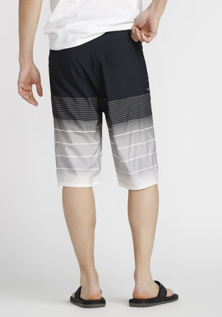 Men's Ombre Board Short, BLACK, hi-res