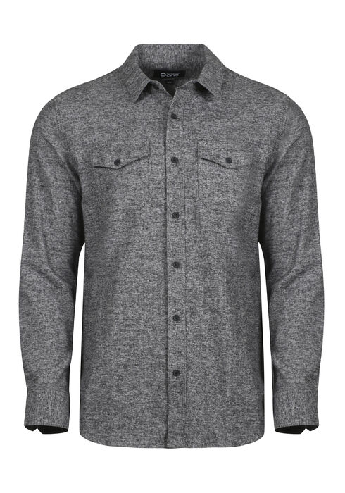 Men's Relaxed Flannel Shirt, CHARCOAL, hi-res