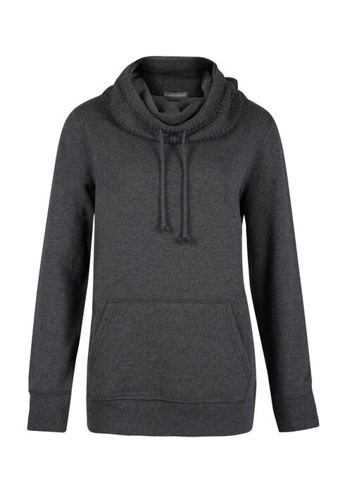 Ladies' Sweater Insert Popover, CHARCOAL, hi-res