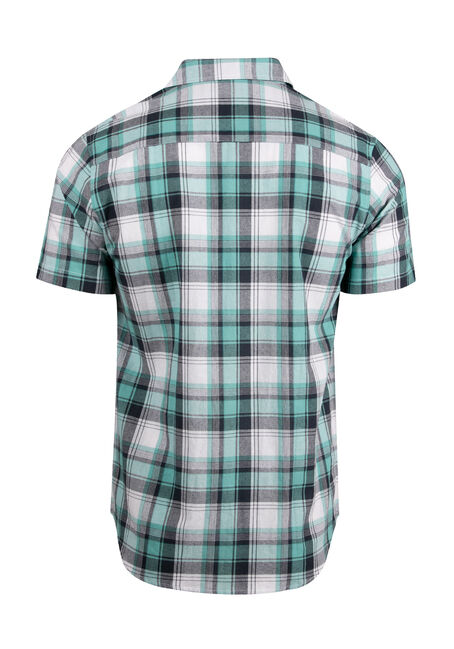 Men's Plaid Shirt, AQUA GREEN, hi-res