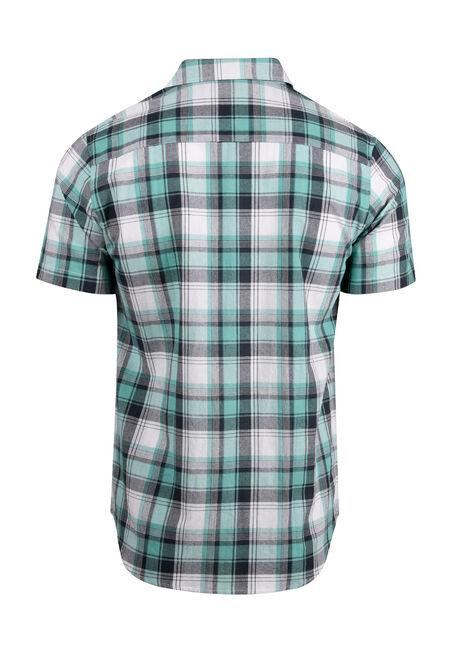 Men's Plaid Shirt, AQUA GREEN, hi-res