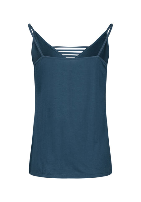 Women's Ladder Neck Tank, TEAL, hi-res
