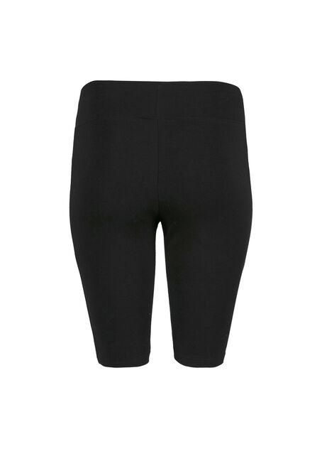 Women's Wide Waistband Biker Short, BLACK, hi-res