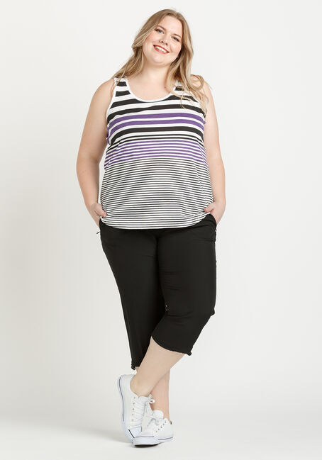 Women's Stripe Tank, MULTI, hi-res
