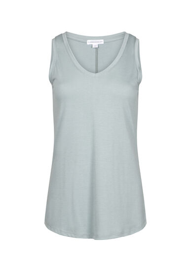 Women's Relaxed Fit V-Neck Tank, SEAFOAM, hi-res