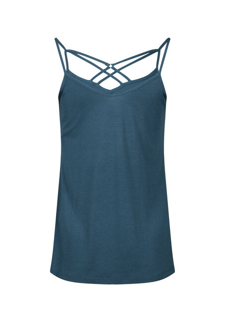 Women's Cage Neck Tank, PEACOCK, hi-res