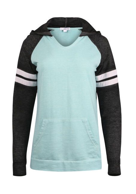 Women's Colour Block Football Hoodie