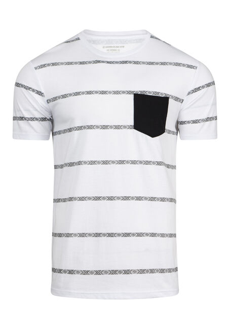 Men's Everyday Pattern Striped Pocket Tee