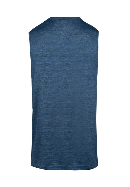 Men's Colour Block Tank, (HOT) TURQ, hi-res