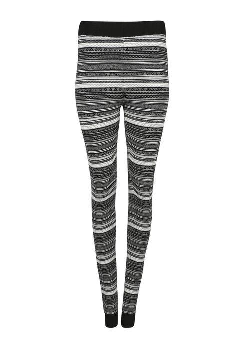 Ladies Fair Isle Sweater Legging, GREY/WHITE, hi-res