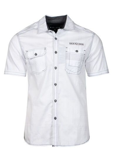 Men's Two Pocket Shirt, WHITE, hi-res