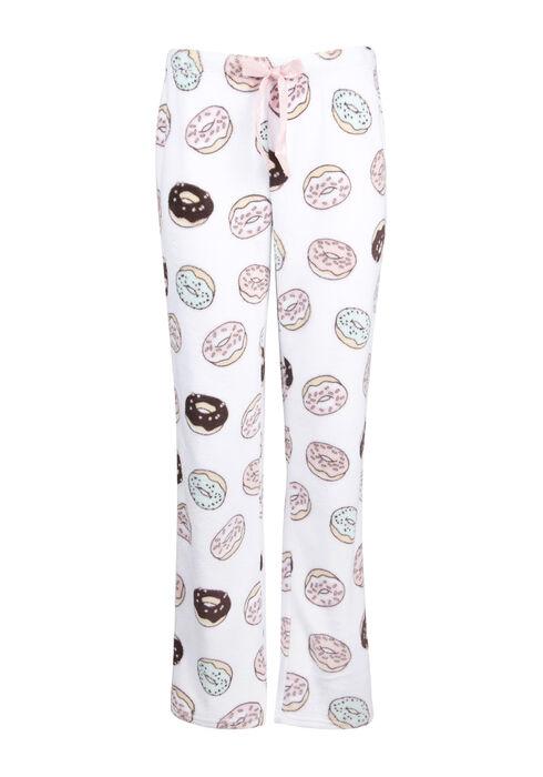 Ladies' Donut Plush Lounge Pant, WHITE, hi-res
