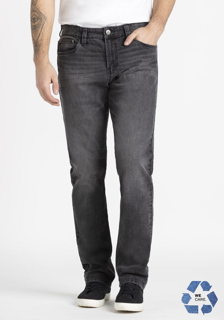 Men's Washed Black Relaxed Slim Jean