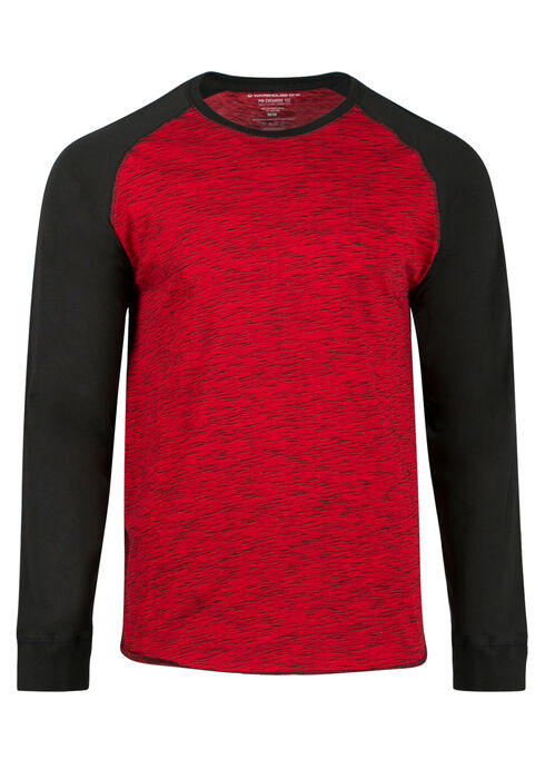 Men's Everyday Baseball Tee, Red, hi-res