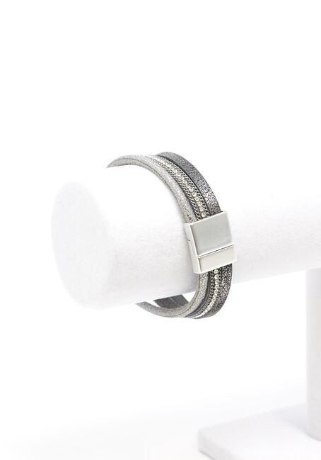 Women's Magnetic Bracelet, SILVER, hi-res