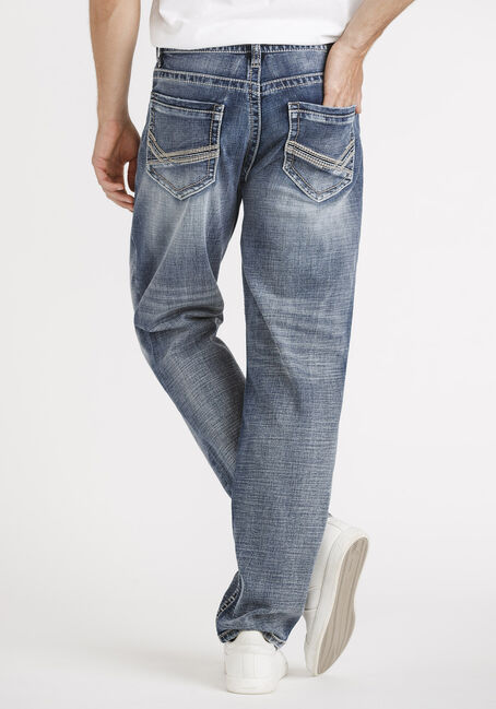 Men's Vintage Relaxed Straight Jeans, MEDIUM WASH, hi-res