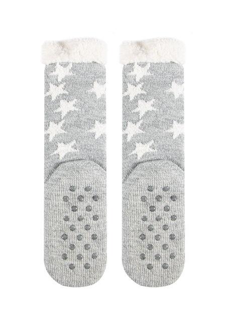 Women's Koala Slipper Socks, GREY, hi-res