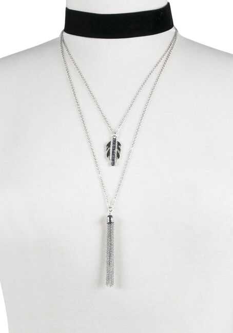 Ladies' Layered Velvet Choker Necklace