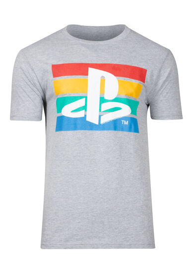 Men's Playstation Tee, CHARCOAL, hi-res