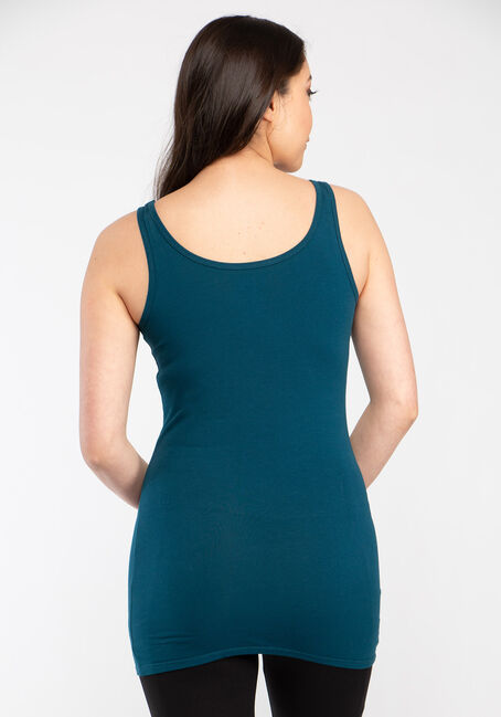 Women's Double Scoop Tunic Tank, TEAL, hi-res