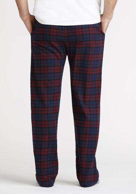 Men's Tartan Plaid Sleep Pant, VINEYARD WINE, hi-res