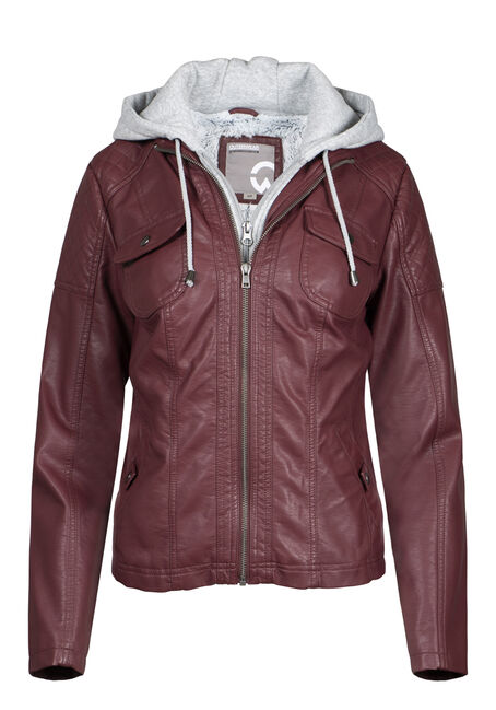 Women's Sherpa Lined Moto Jacket