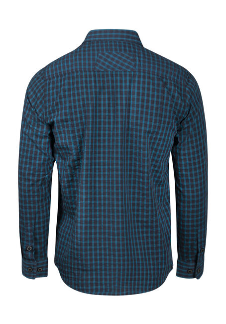 Men's Mini Check Shirt, NAVY, hi-res