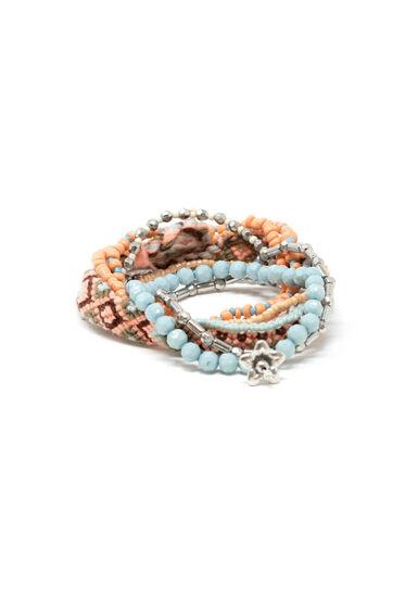 Women's 8 Pair Bracelet Set, LIGHT CORAL, hi-res