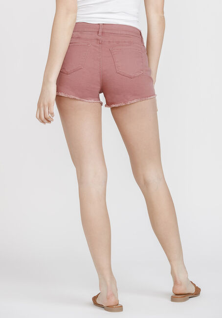 Women's Frayed Hem Not-So-Short Short, DARK COPPER, hi-res