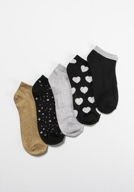 Women's 5 Pair Shimmer Socks