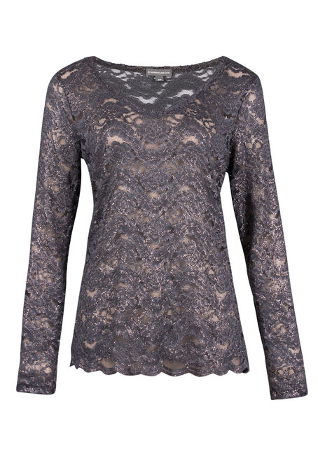 Ladies' Shimmer Lace Top
