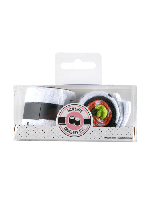 Ladies' Boxed Sushi Socks, BLACK, hi-res