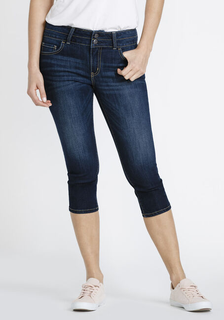 Women's High Rise Skinny Capri