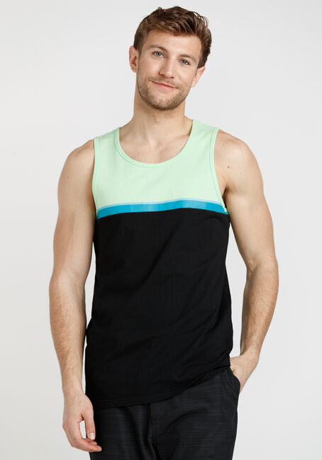 Men's Printed Stripe Tank