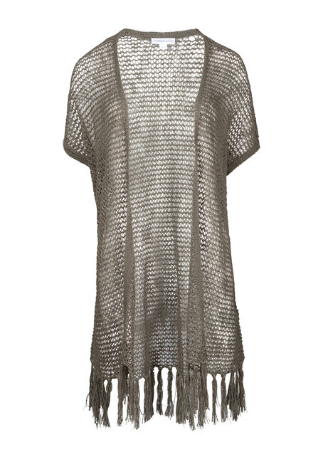 Women's Fringe Pointelle Cardigan