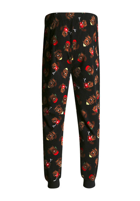 Men's Canadian Beaver Joggers, BLACK, hi-res